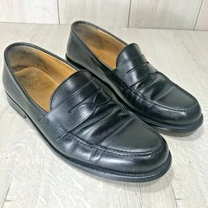 Polo Ralph Lauren Black Soft Leather Penny Loafers